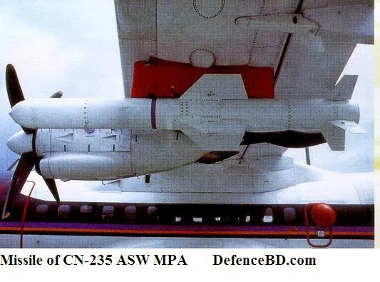 CN-235 ASW Anti Submarine Warfare MPA Bangladesh Missile