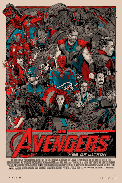 Avengers: Age of Ultron Regular Edition Screen Print by Tyler Stout & Hero Complex Gallery