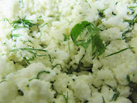crumbled feta and dill
