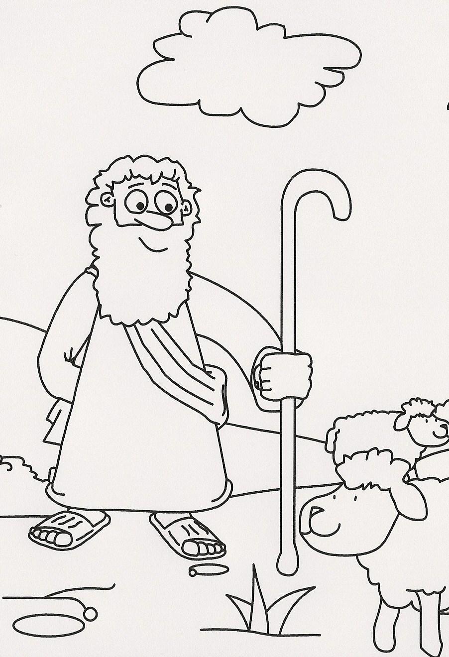 Educar con Jesús: Historias del Antiguo Testamento para colorear