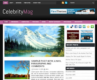 WordPress-Template CelebrityMag