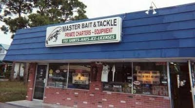 Master Bait & Tackle funny business names
