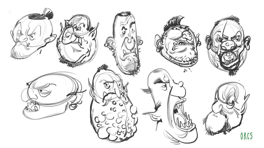 Character Design Class : Rick lacy character design class homework the shape of orcs
