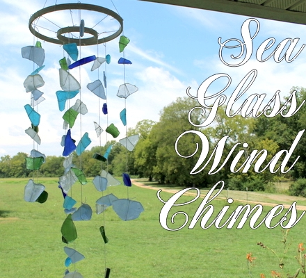 sea glass sun catcher chime