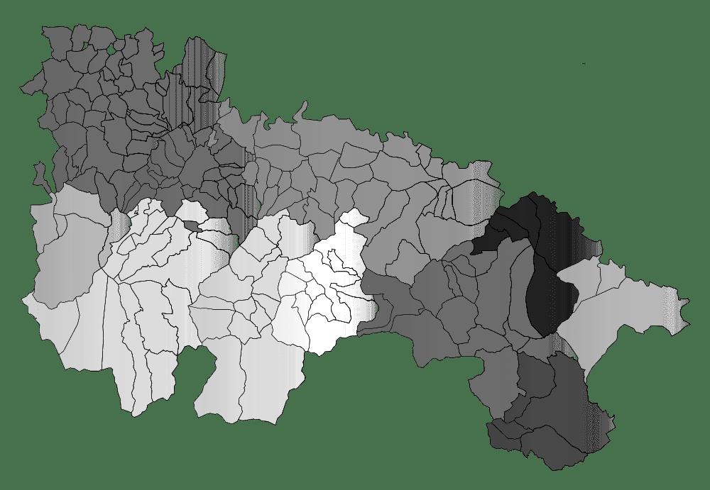 Mapa mudo de La Rioja para imprimir