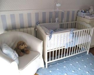 Caracolas deco una habitaci n celeste para carlota - Papel pintado habitacion infantil nina ...