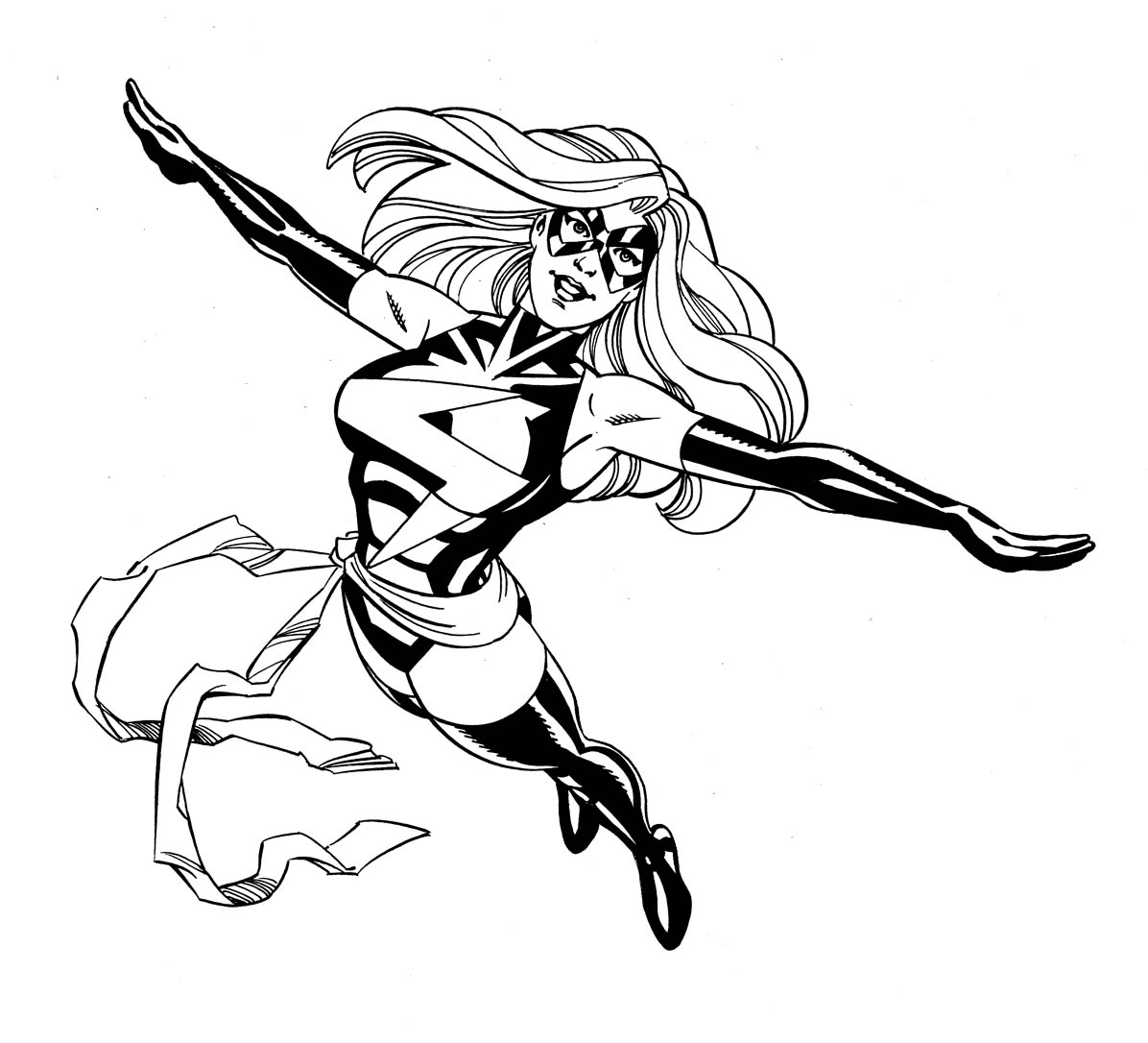 Ms Marvel Free Coloring Pages
