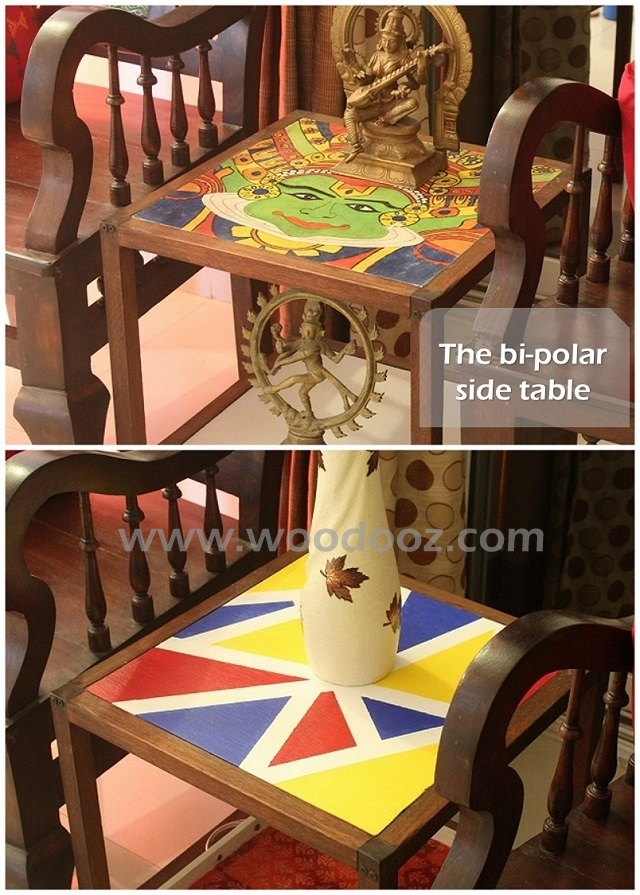 Side table painting