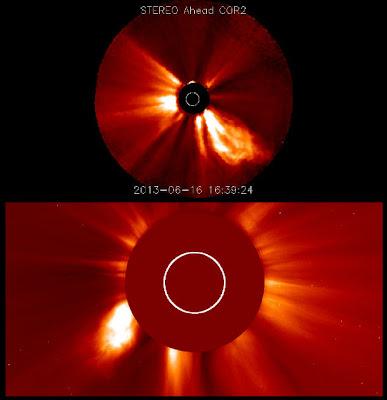 Eyeccion de masa coronal 16 de Junio 2013