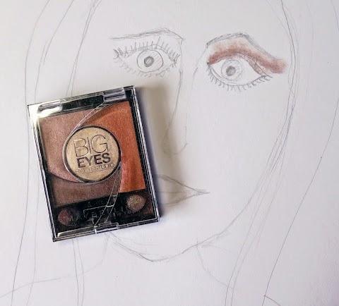 Maybelline Big eyes 01 Luminous brown akių šešėliai