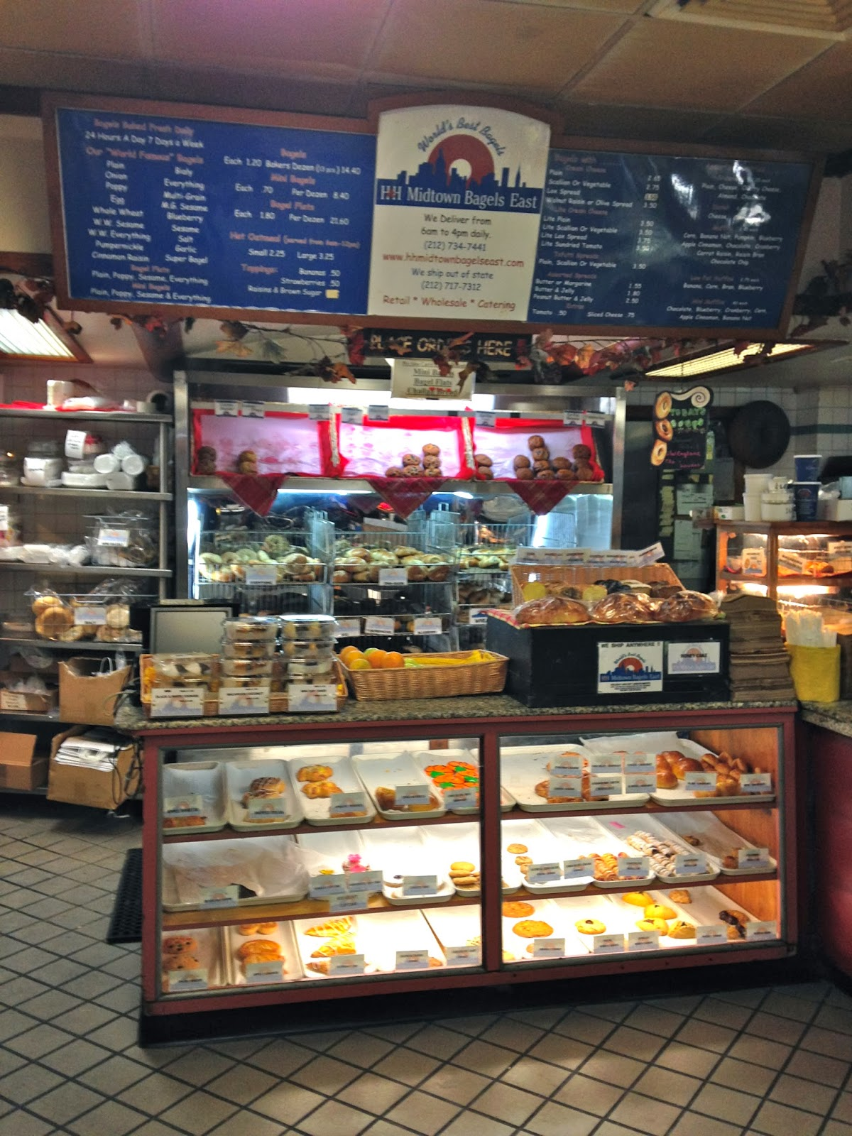 NYC H&H Midtown Bagels East - Inside Store, Cashier