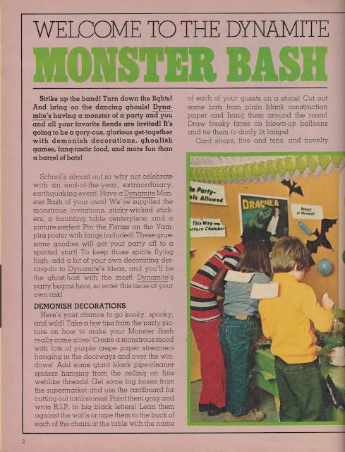 Garage Sale Finds: Monster Bash pg 2 - 1975 Dynamite No. 12