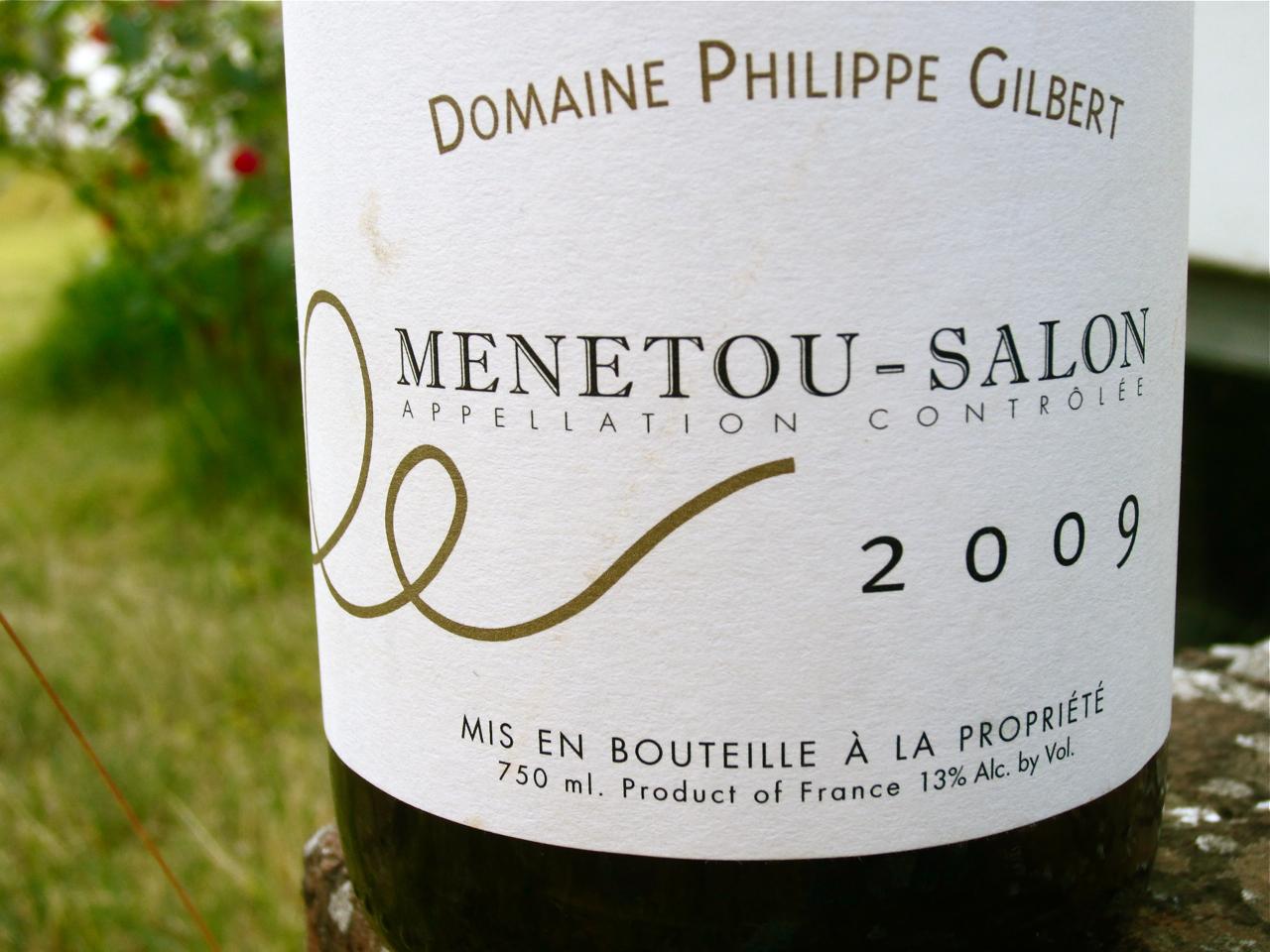 Finare vinare 2009 philippe gilbert menetou salon rouge for Menetou salon rouge