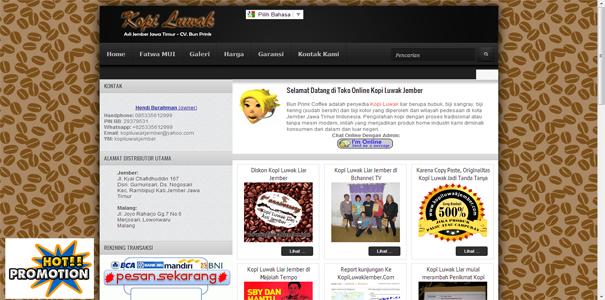Kopi Luwak  , polisi online