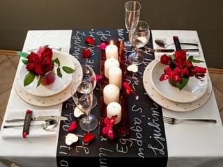 romantica 4 Decoração Romântica na Sala de Jantar