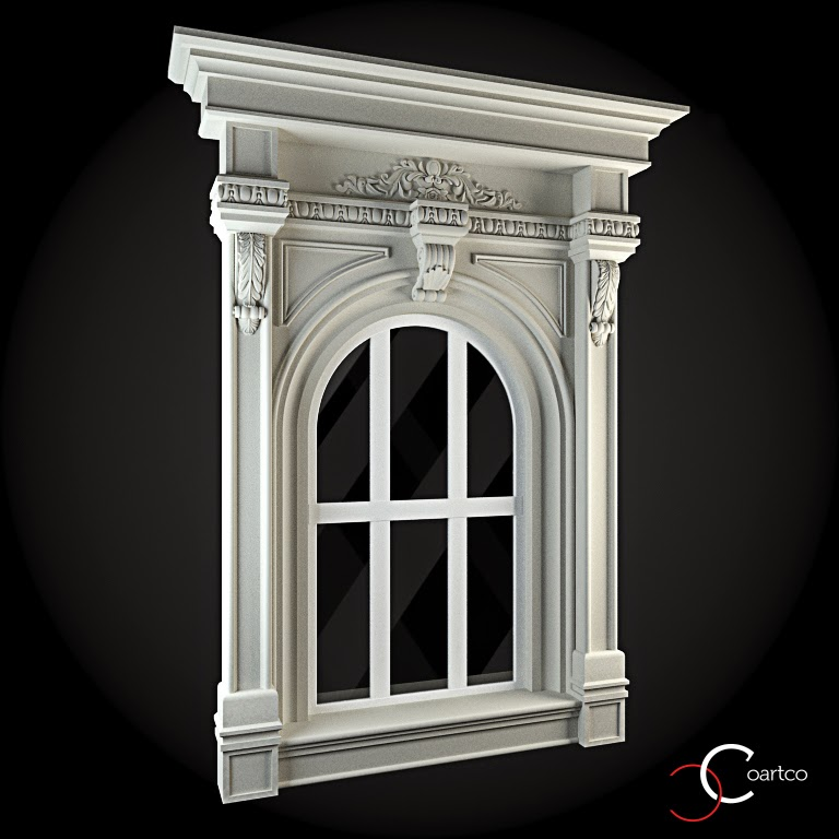 Ornamente Geamuri Exterior, Arcada, fatade case cu profile decorative polistiren, profile fatada,  Model Cod: WIN-071