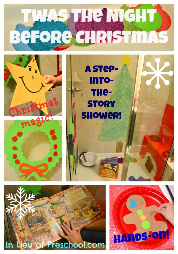 Twas the Night Before Christmas bath time fun for kids