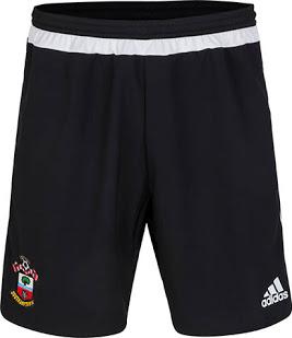 gambar detail jersey terbaru dan celana bola Celana bola warna hitam Southamton home musim 2015/2016