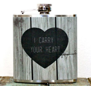 Ma Bicyclette: Buy Handmade | Whimsy and Ink Hip Flasks - I Carry Your Heart Quote Hip Flask