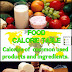 Food Calorie Table
