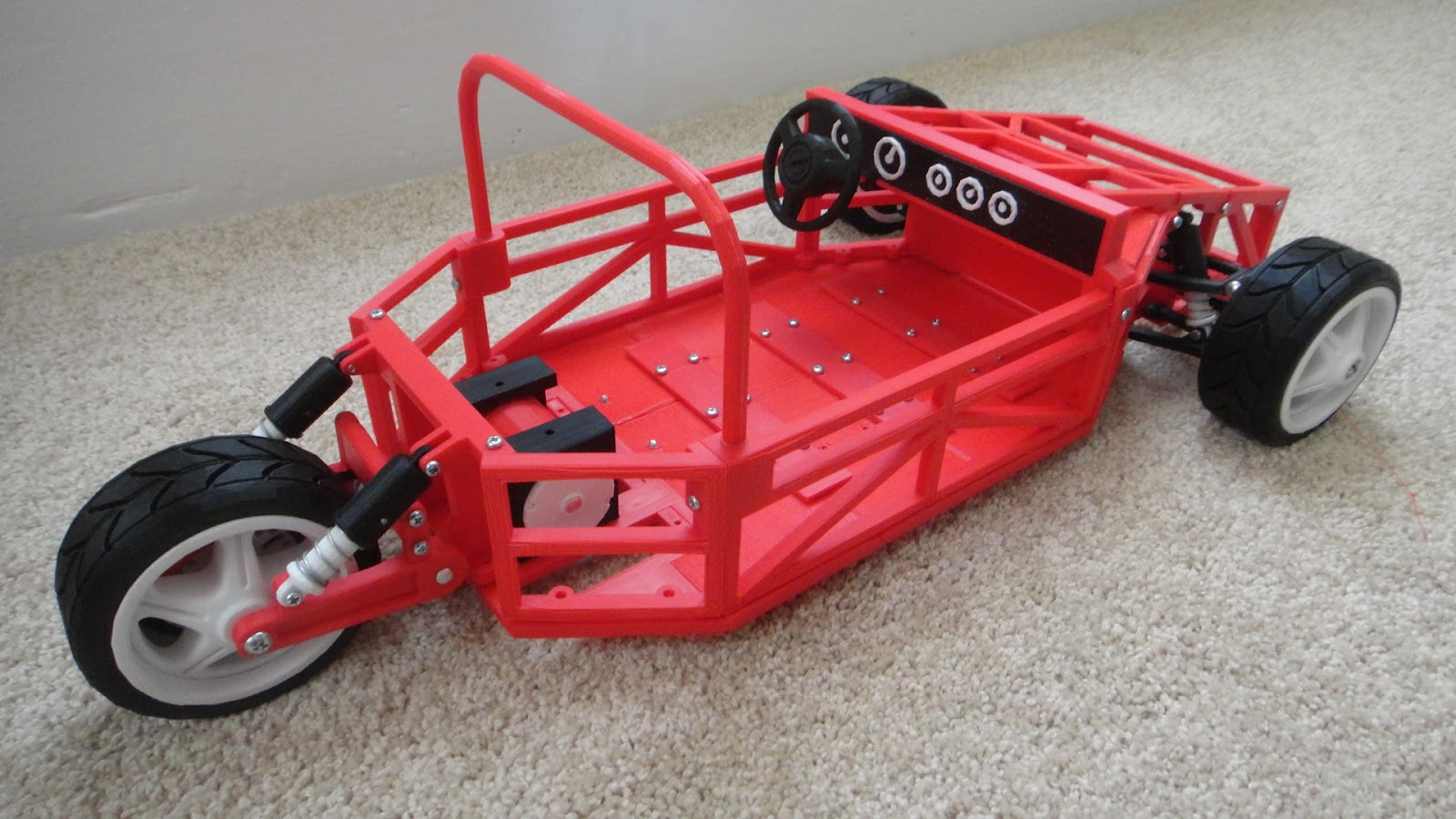 The Tinkers Workshop: 1/6th Scale Makerbot Electric Car Model Is Rolling