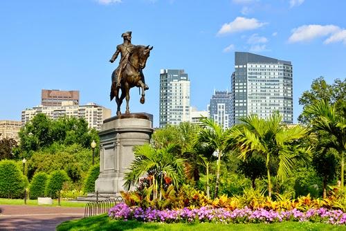 El parque Boston Common en el centro de la ciudad
