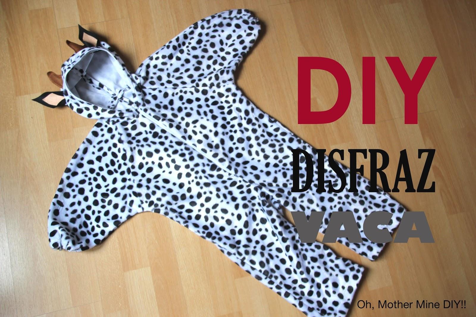 DIY Tutorial: Disfraz de vaca para niños (patrones gratis) - Handbox ...