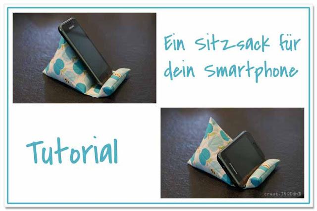 Sitzsack für ein Handy - erschienen bei farbenmix.de