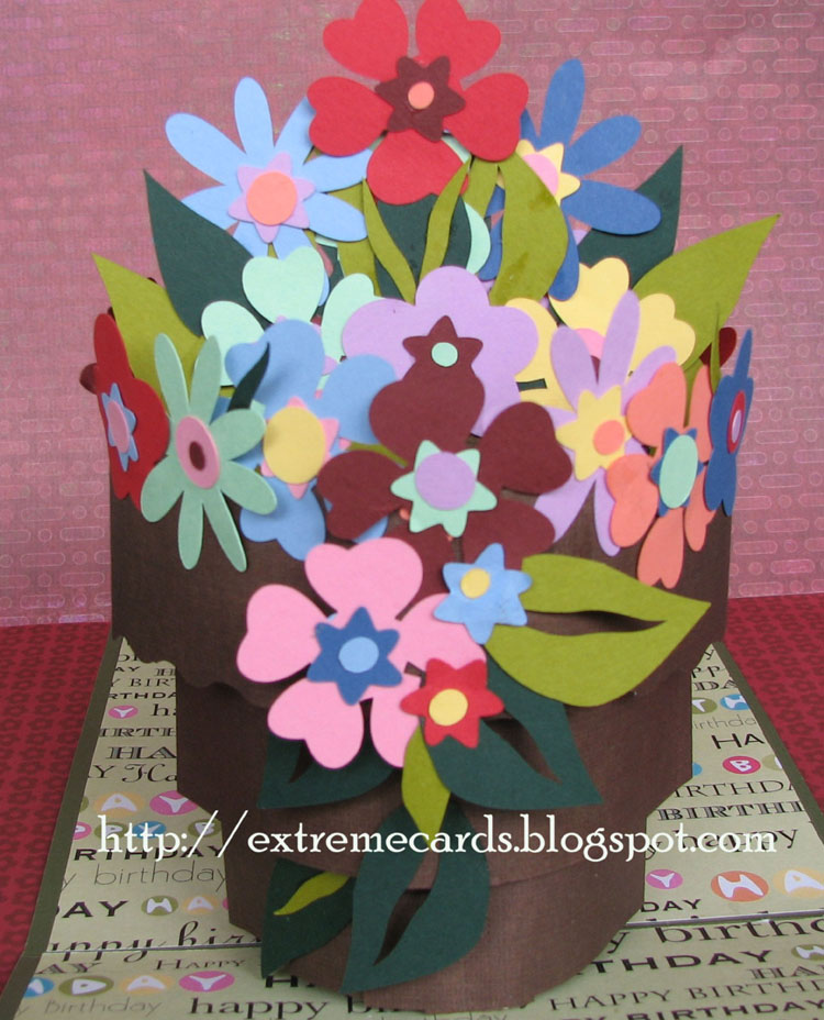 Extreme Cards and Papercrafting: Flowerpot Pop Up Card Tutorial