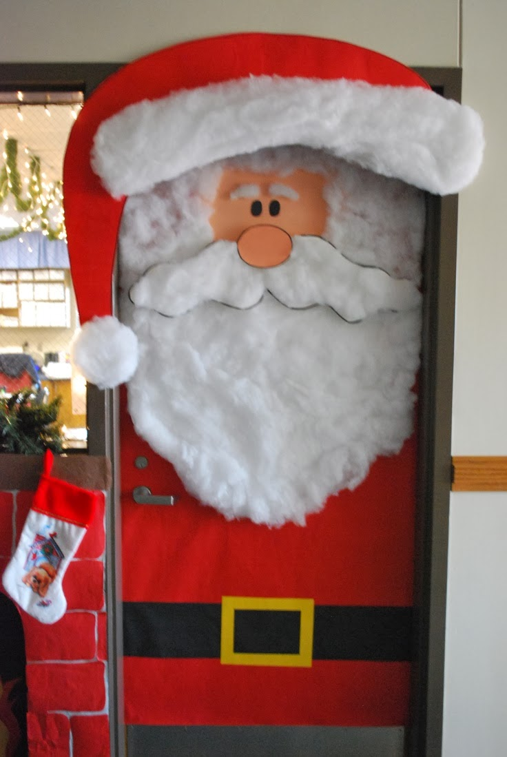 cmo decorar una puerta en navidad