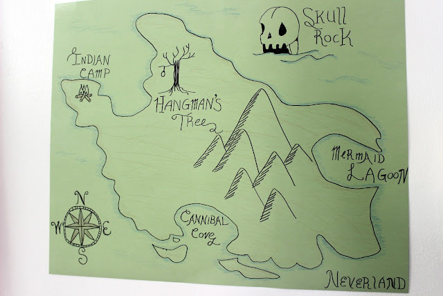 Neverland Map Once Upon a Time