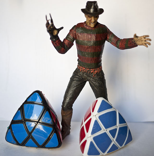 3x3x3x Mastermorphix Pillowed Rubik freddy krueger