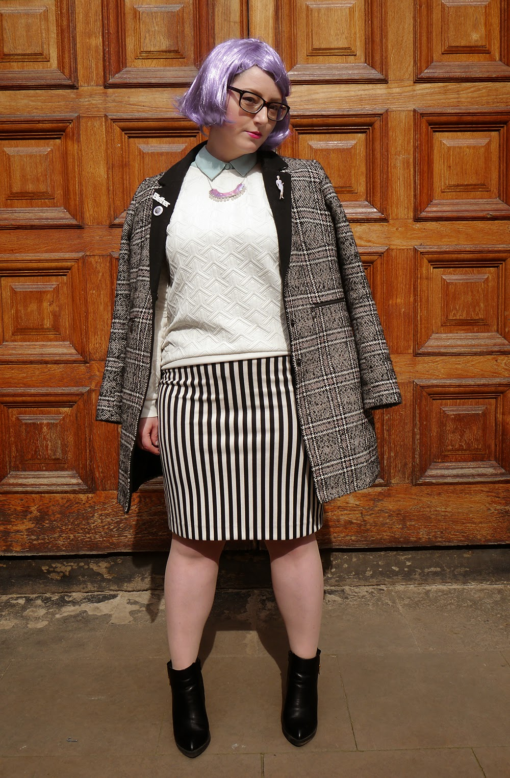#scotstreetstyle, #EdFashion, Edinburgh, street style, tartan, plaid, Wear Eponymous, collar, futuristic