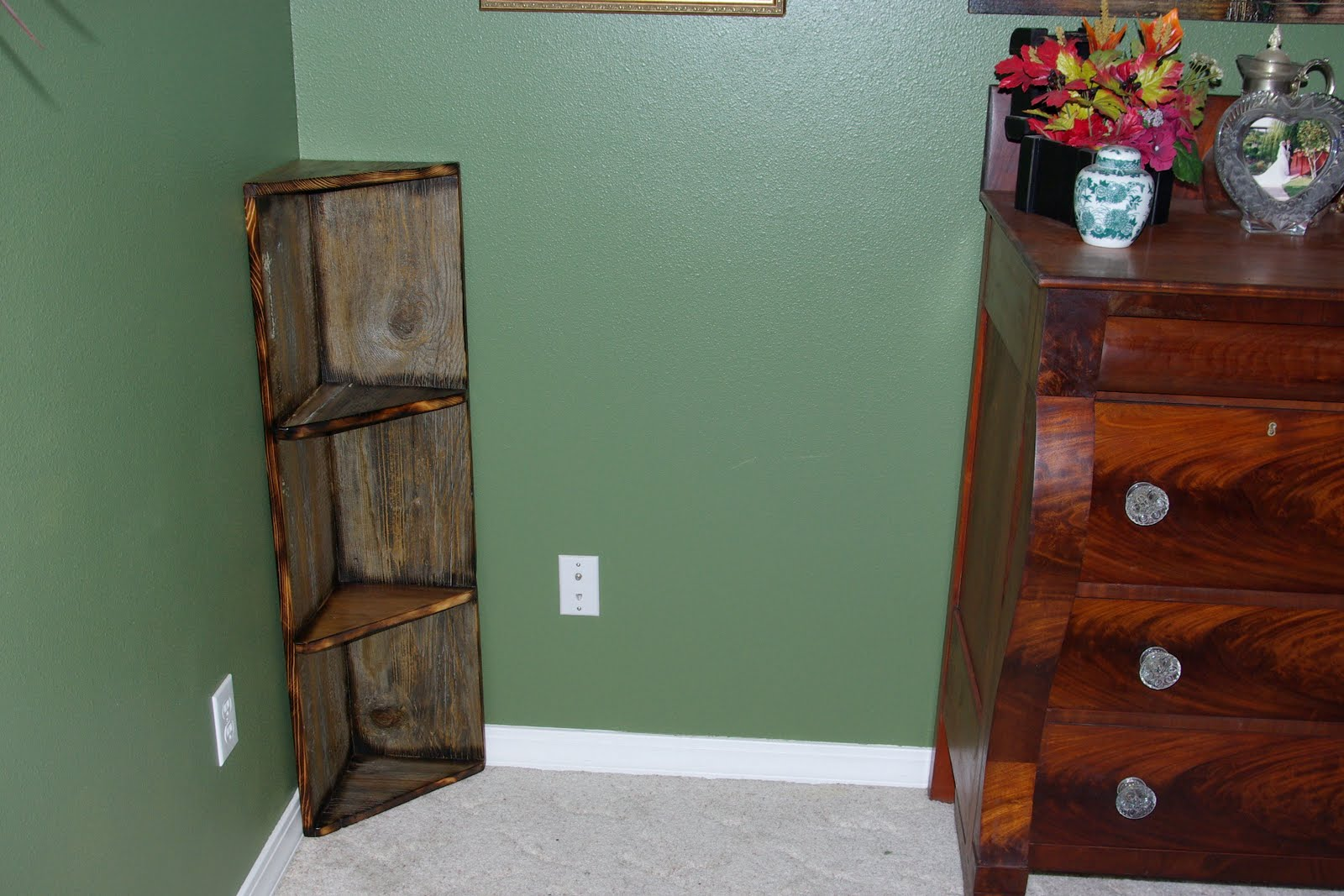 Barn Wood Corner Shelf