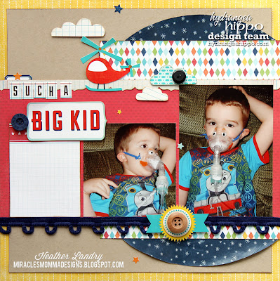 Scrapbook Page_Breathing Treatment_Sick Kid