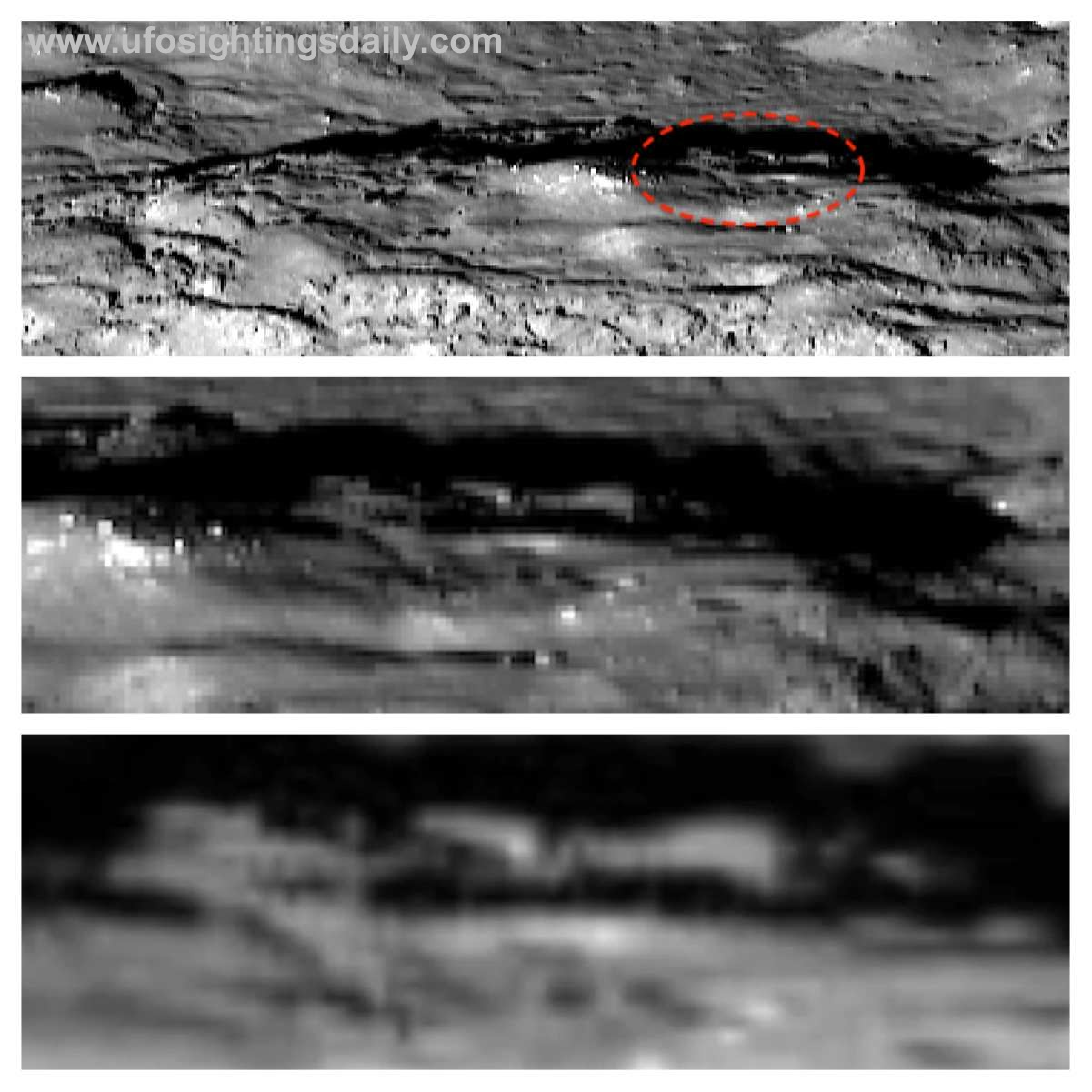 Discovered in tycho crater along with other structures jan 8 2013