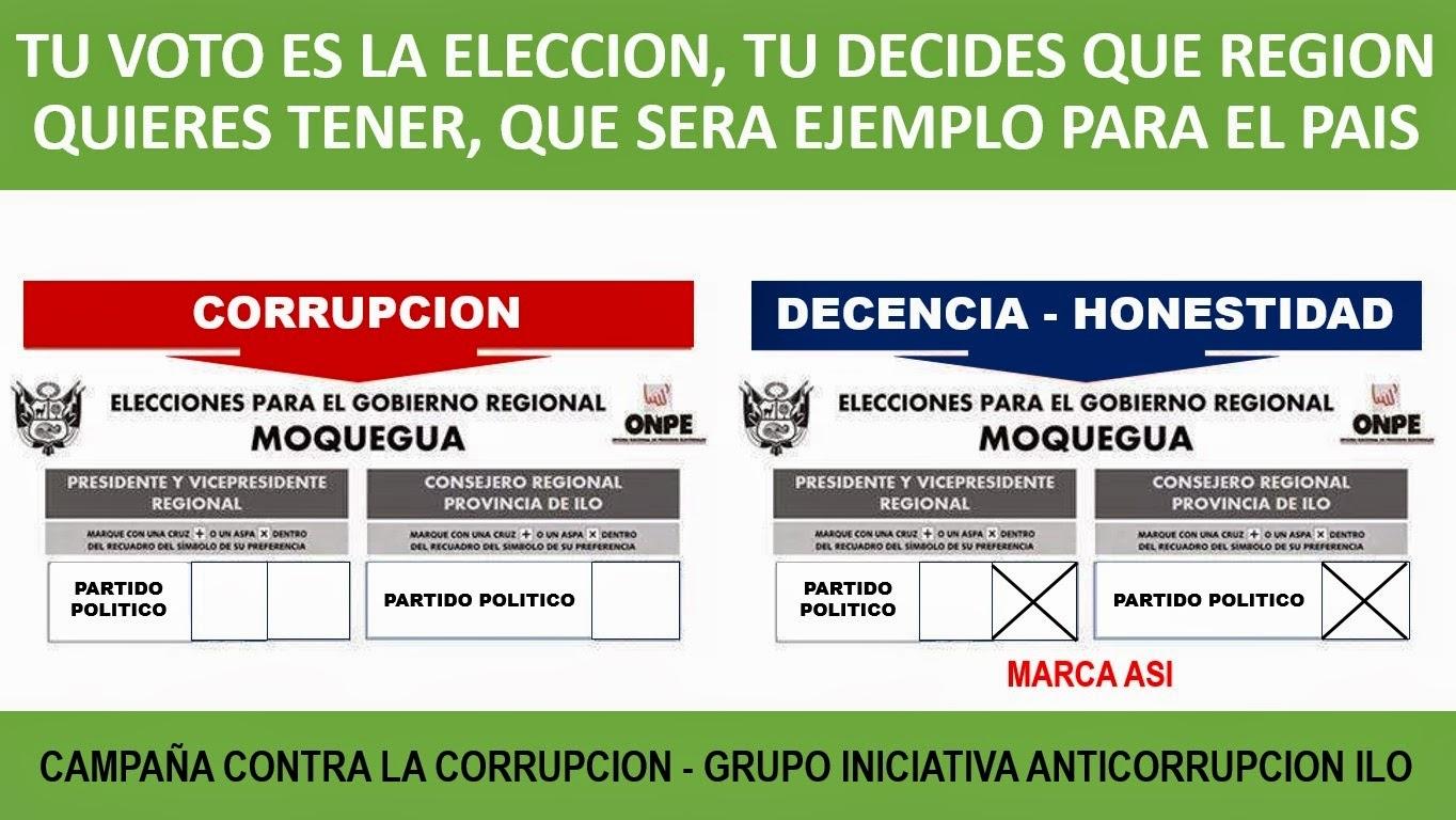 A la Corrupción dile no, tu voto decidirá