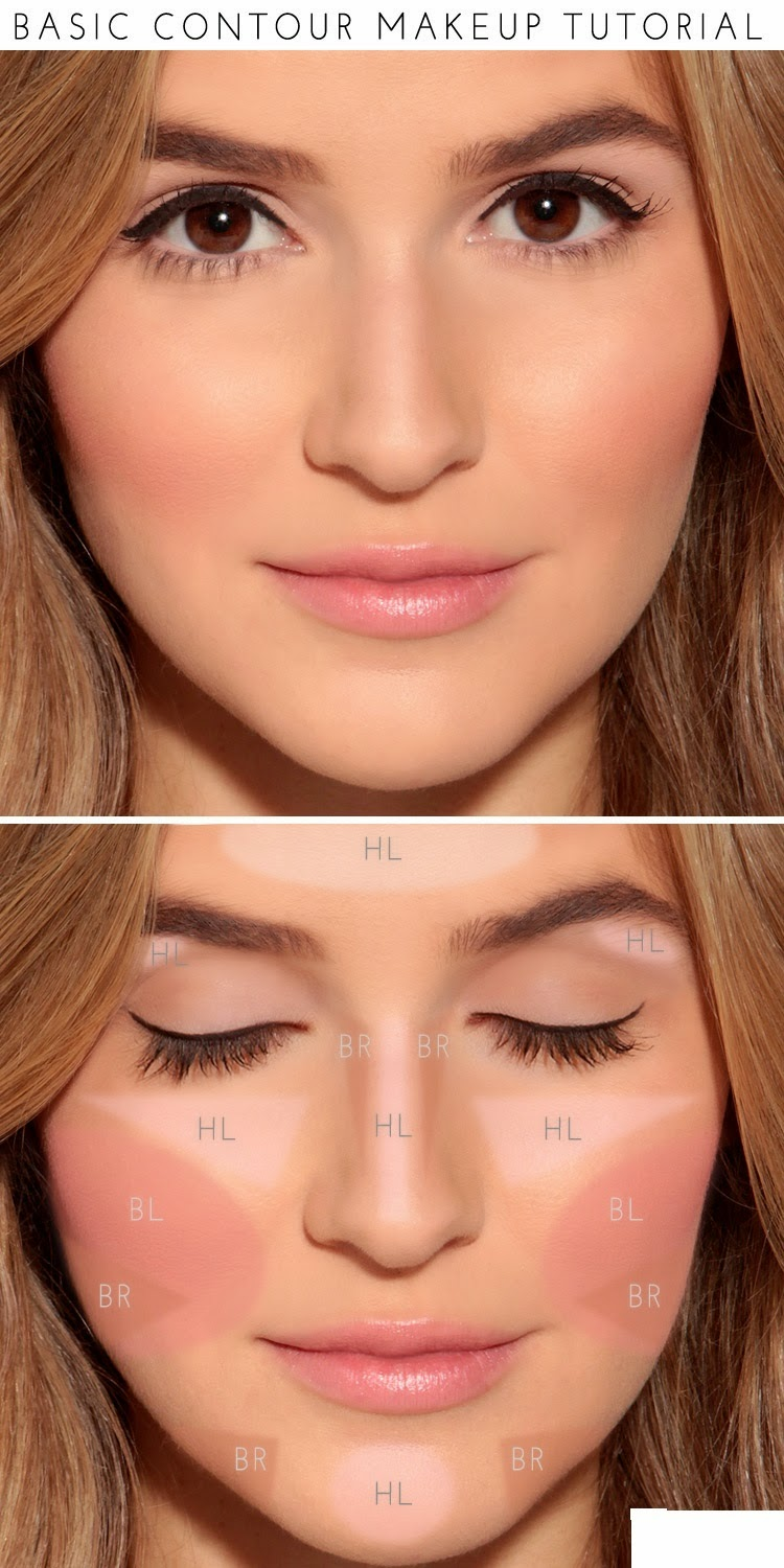 How To : Basic Contour Makeup Tutorial