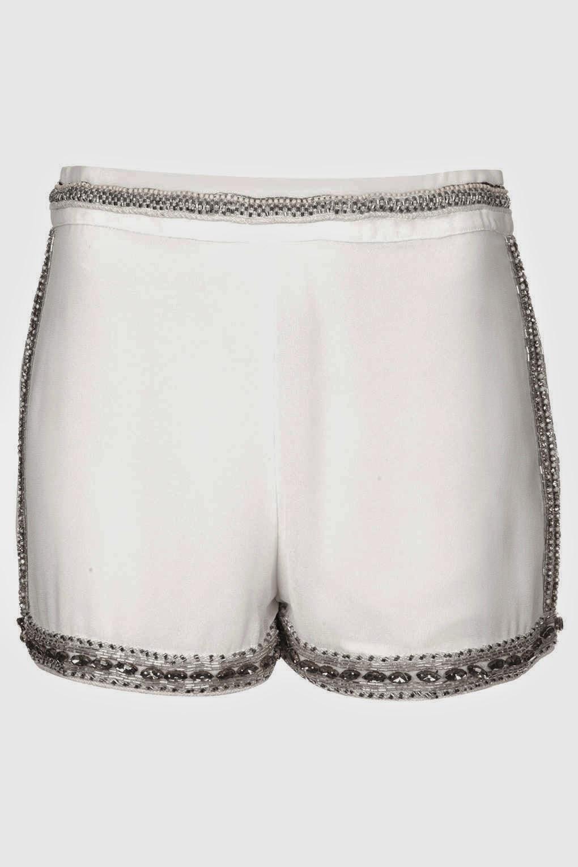 white smart shorts