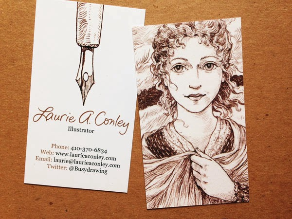 Busy drawing illustration blog new business cards reheart Image collections