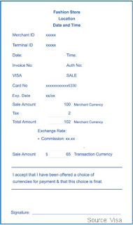 Merchant Credit Card Account Dynamic Currency Conversion