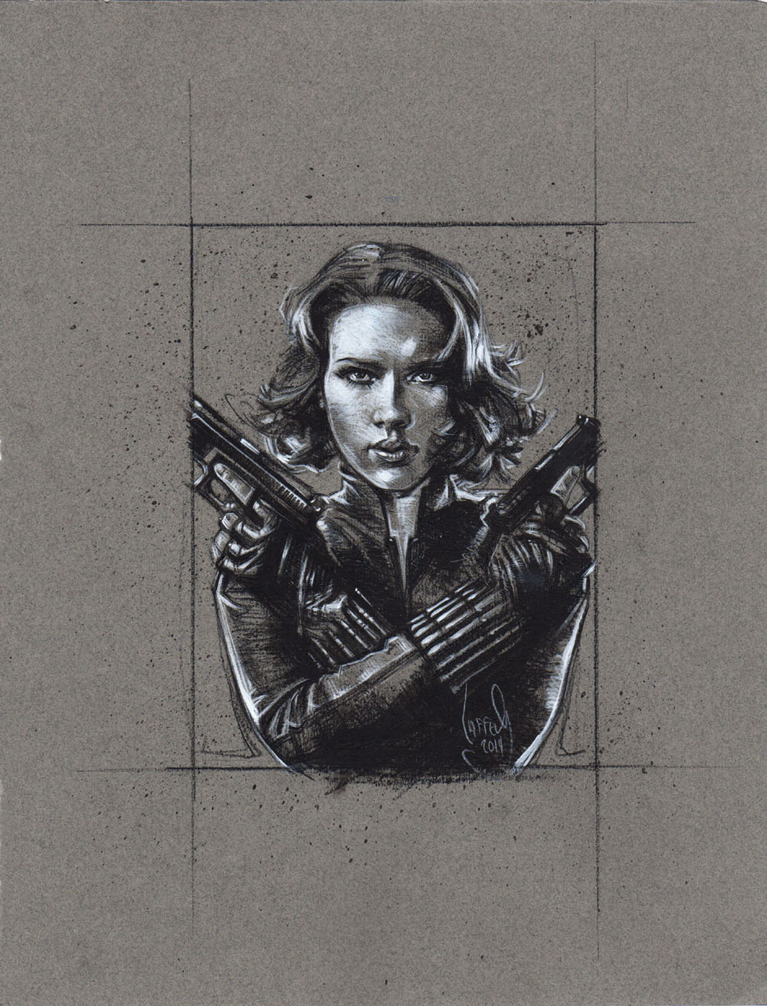 Scarlett Johanssen as Black Widow, Artwork is Copyright © 2014 Jeff Lafferty