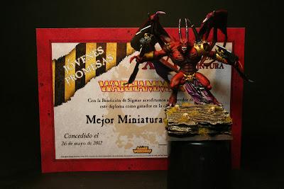 Skarbrand, mejor miniatura en el XVI concurso de pintura de las tiendas Games Workshop