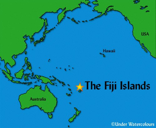 Exotic Places Fiji Island Location - Fiji location