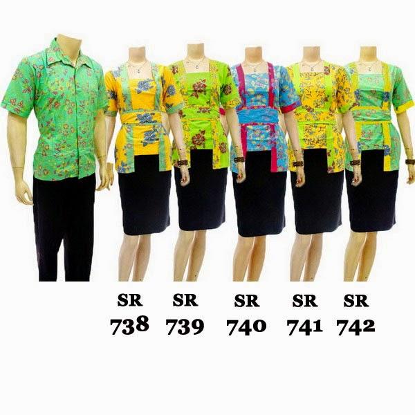 SR738-742 Grosir Baju Batik pasangan/Couple 2014
