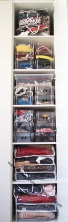 Dicas de como organizar seu armário