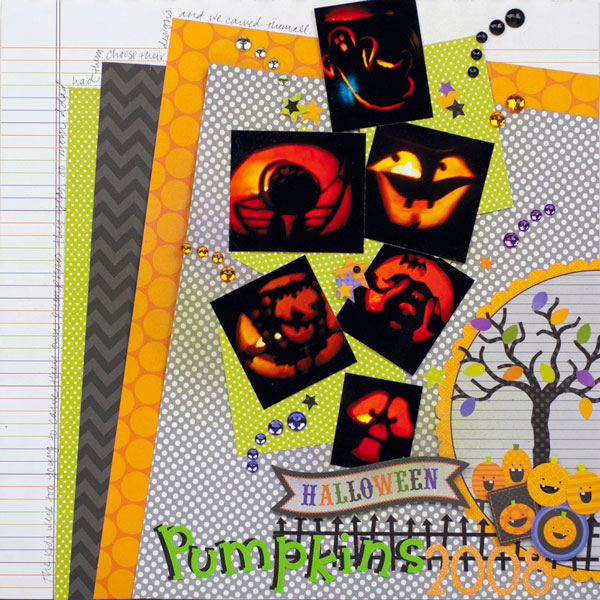 Rhinestones and Ribbon: Doodlebug Pumpkins Layout