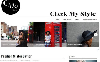 Check My Style premium Blogger Template