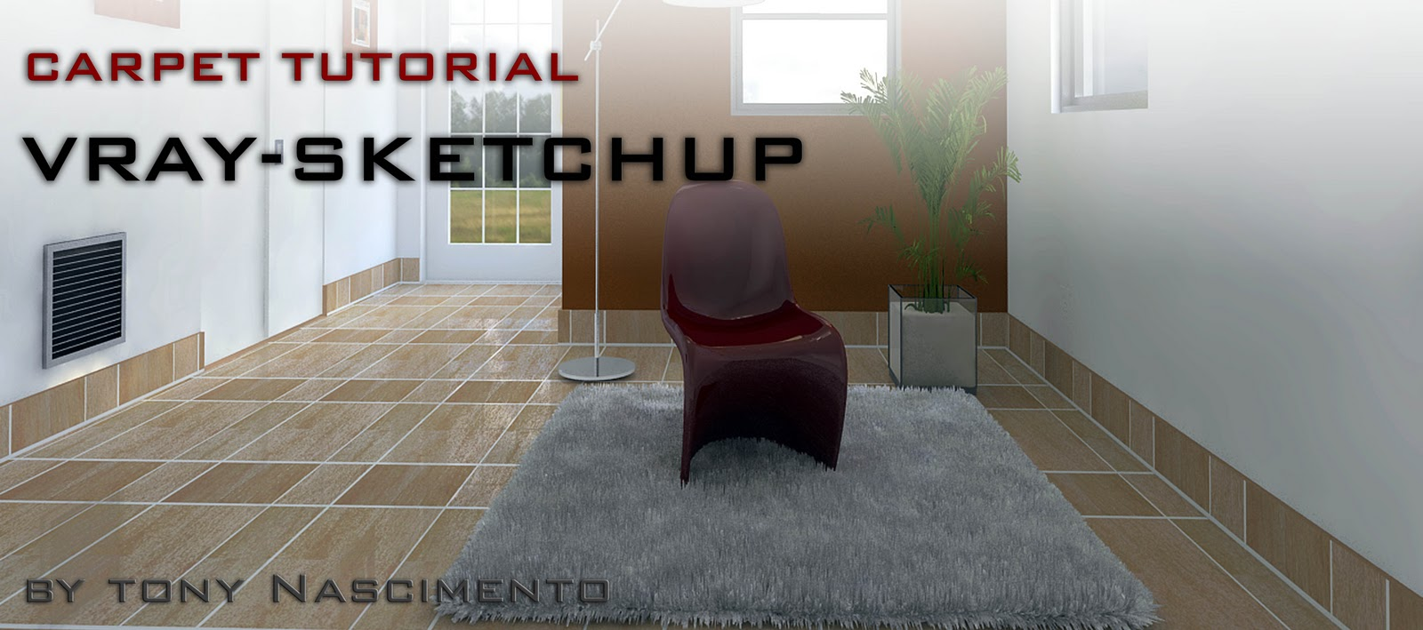 Create realistic carpet in V ray for Sketchup