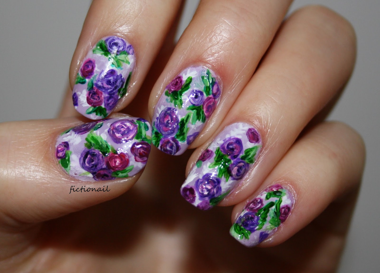Purple rose nails for cystic fibrosis awareness for some children who suffer with cystic fibrosis they find it easier to call it 65 roses and so roses are the symbol used to raise awareness buycottarizona